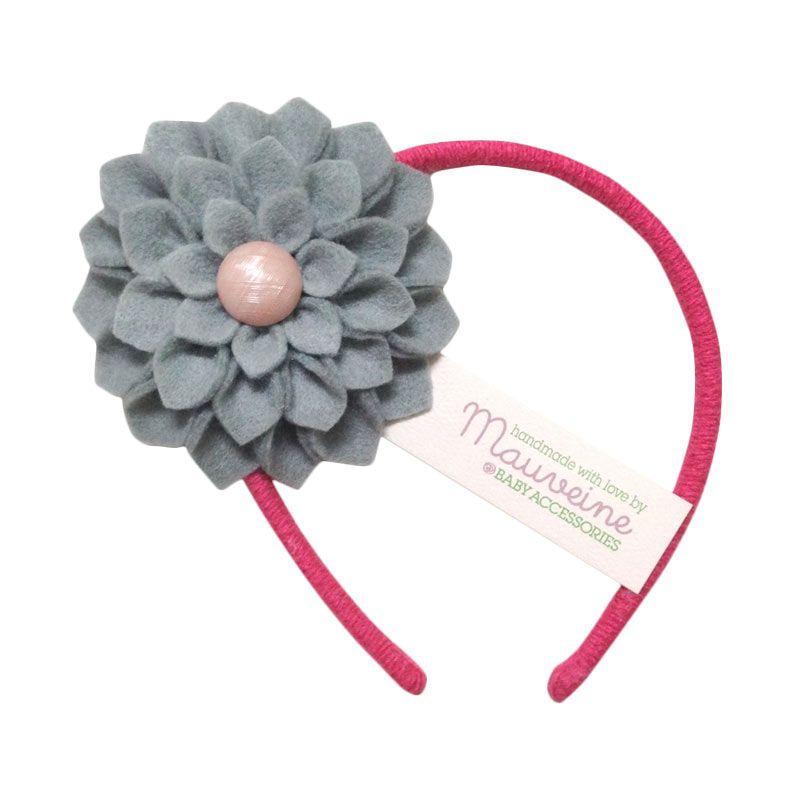 Mauveine Headband Hibiscus Grey