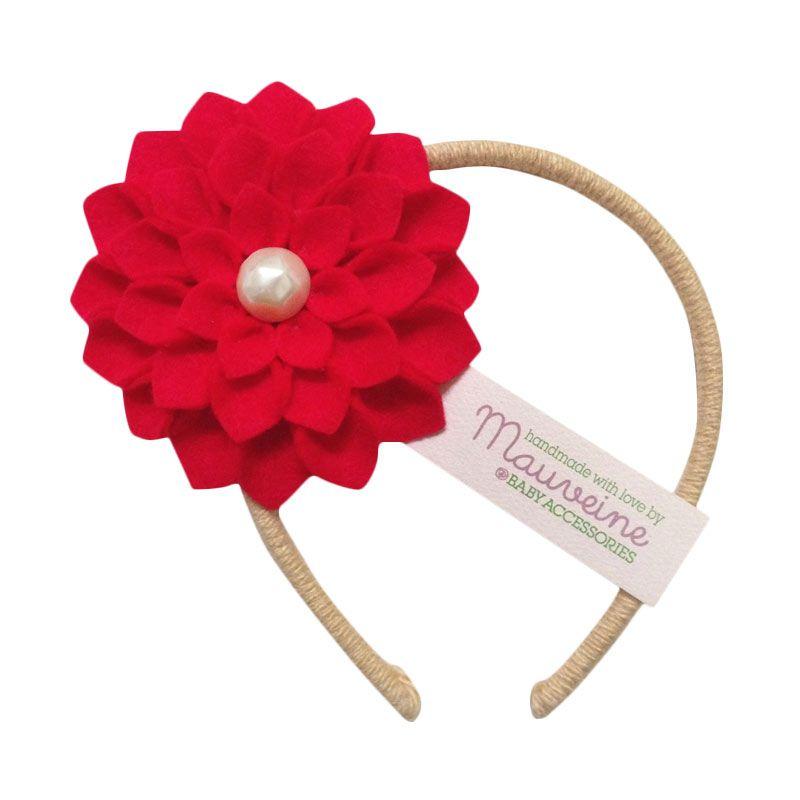 Mauveine Headband Hibiscus Red