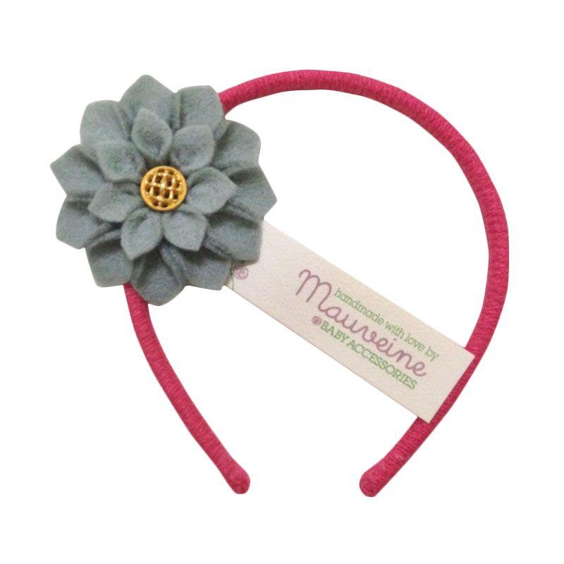 Mauveine Headband Small Hibiscus Grey