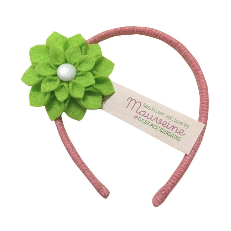 Mauveine Headband Small Hibiscus Lime Green
