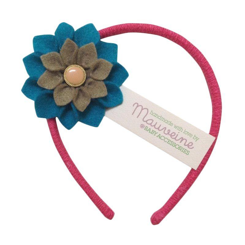 Mauveine Headband Small Hibiscus Multicolor Turquoise Beige