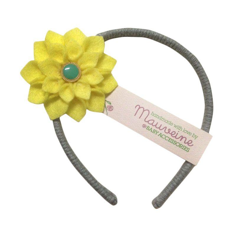 Mauveine Headband Small Hibiscus Yellow