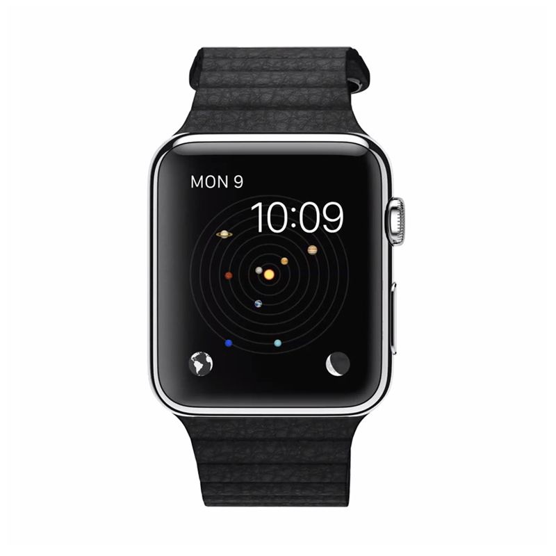 Apple Watch Leather Loop Stainless Hitam Smartwatch [42 mm]