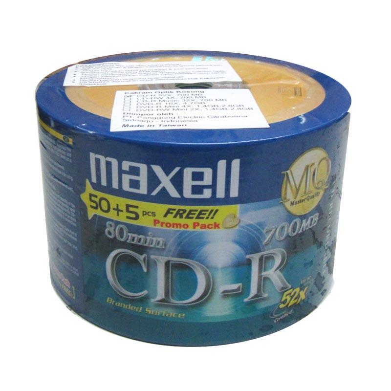 Maxell Bulk Pack CD-R 50+5 Pcs