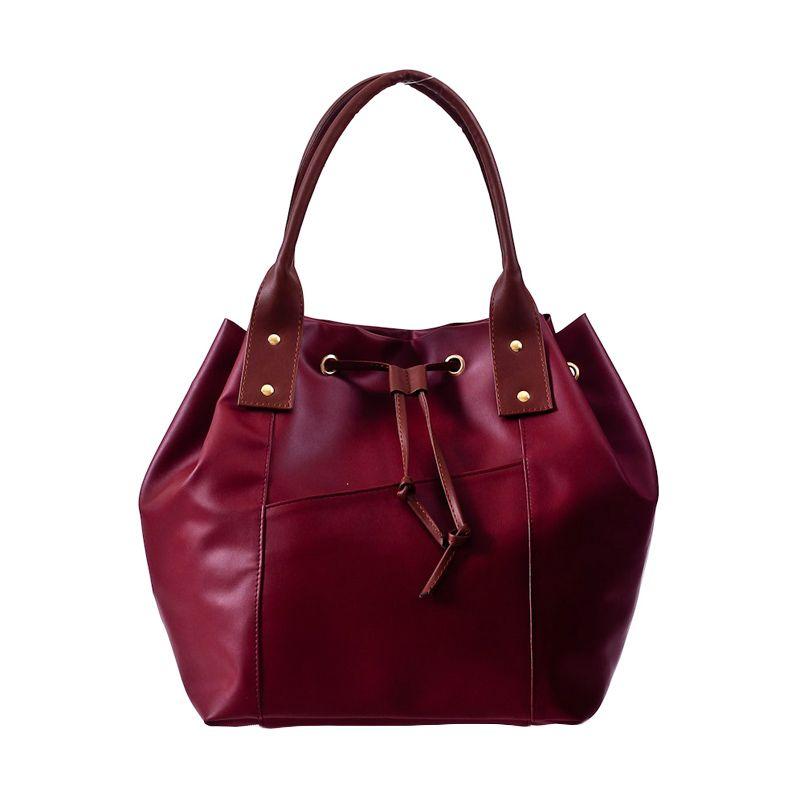 Mayonette Carmaine Shoulder Bag Maroon Tas Tangan