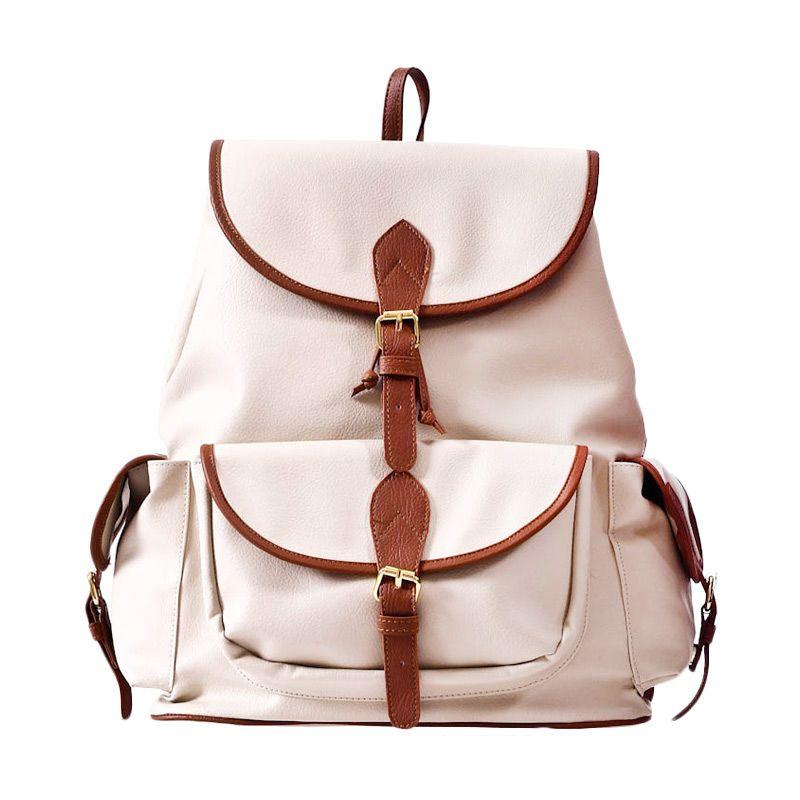 Mayonette Joseline Backpack White Tas Ransel