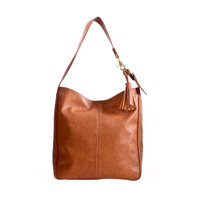 Mayonette Rhea Shoulder Bag Brown Tas Tangan