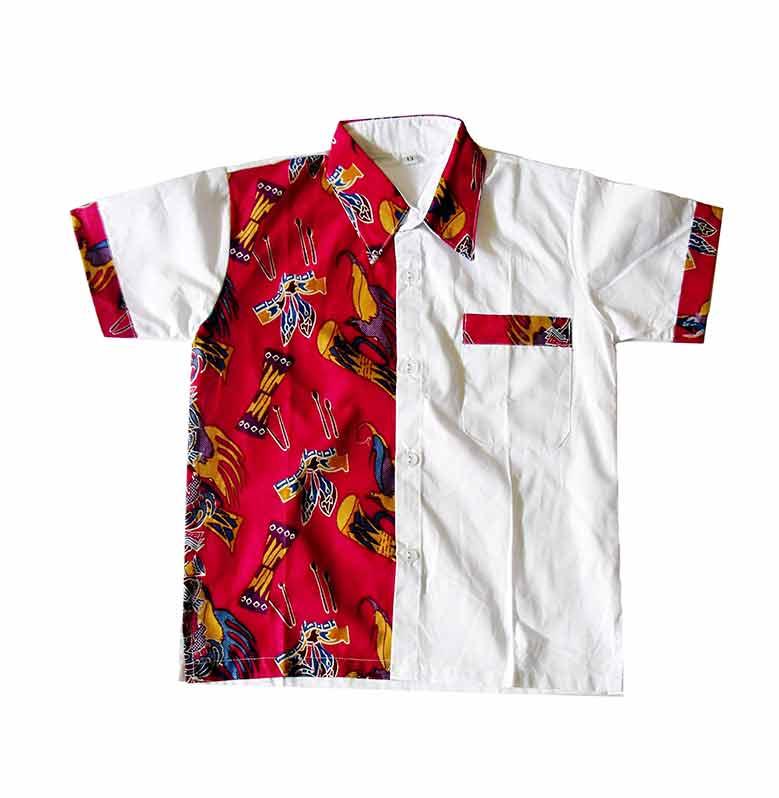 Kemeja Batik Untuk Anak: Jual Mayura Batik Lucky Merah Kemeja Batik Anak Laki-Laki
