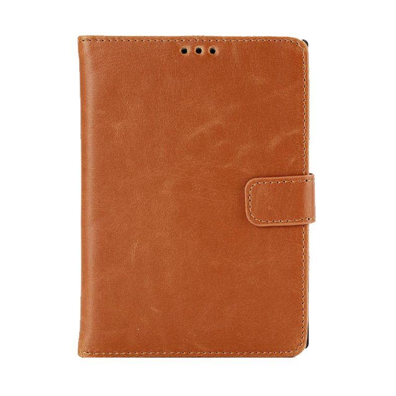 Emco Holster Brown Leather Flip Cover Casing for Blackberry Passport