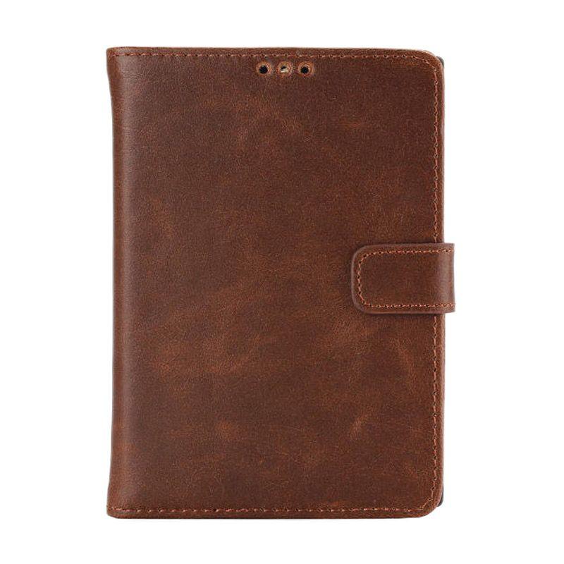 Emco Holster Dark Brown Leather Flip Cover Casing for Blackberry Passport