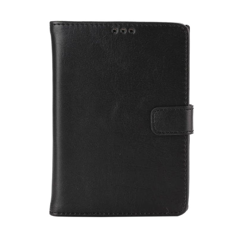 Emco Holster Black Leather Flip Cover Casing for Blackberry Passport