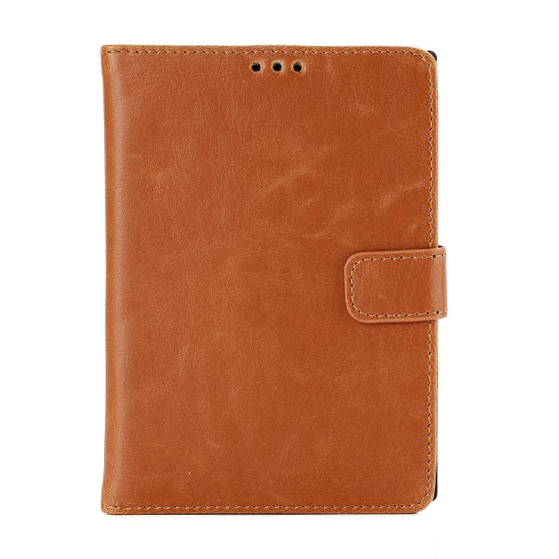 MCO Premium Imported Brown Leather Flip Cover Casing for Blackberry Passport