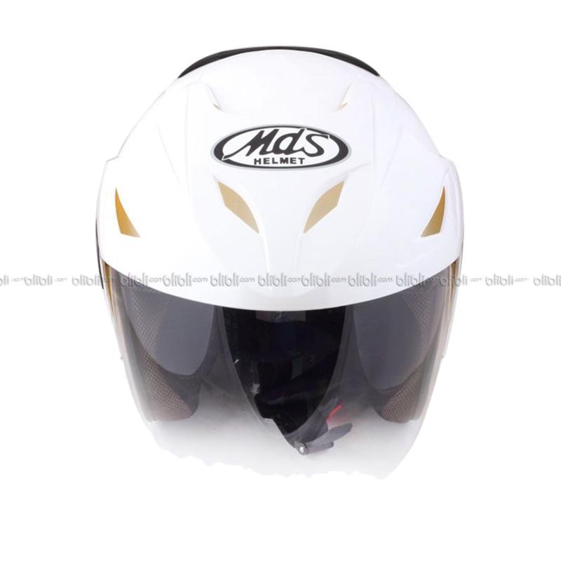 harga MDS Protector Solid White Helm Half Face Blibli.com