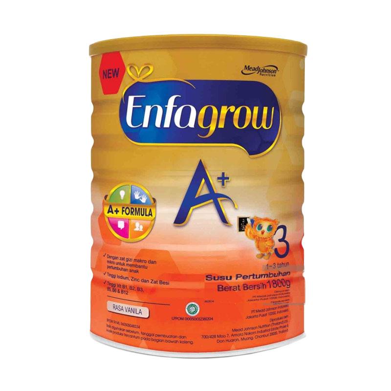 MeadJohnson Enfagrow A+ Tahap 3 Vanila [1800 gr/ 3 x 600 gr kotak]