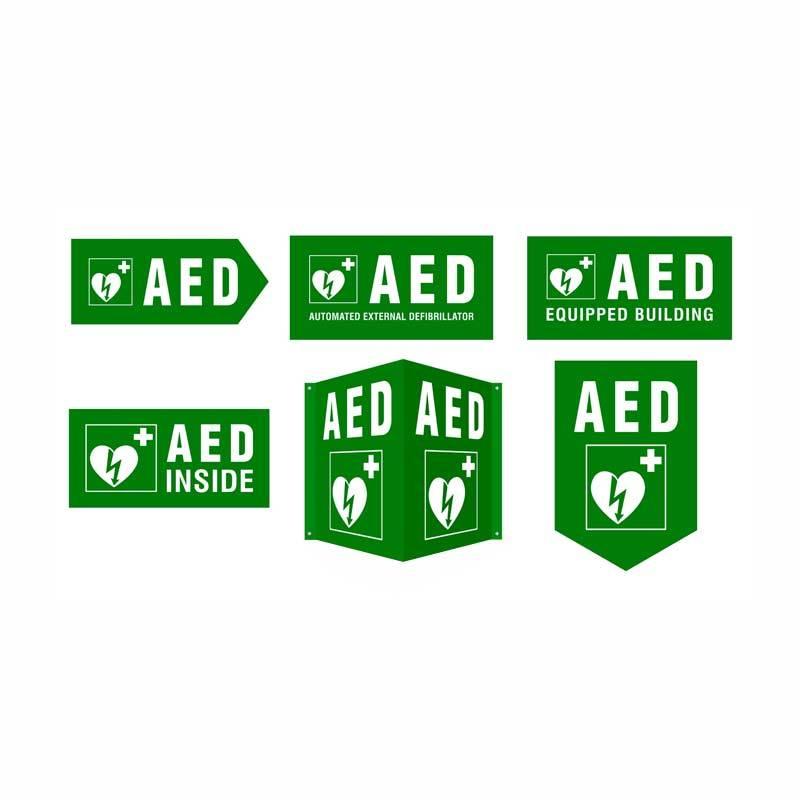 Cardiaid - Stiker Paket AED Sign