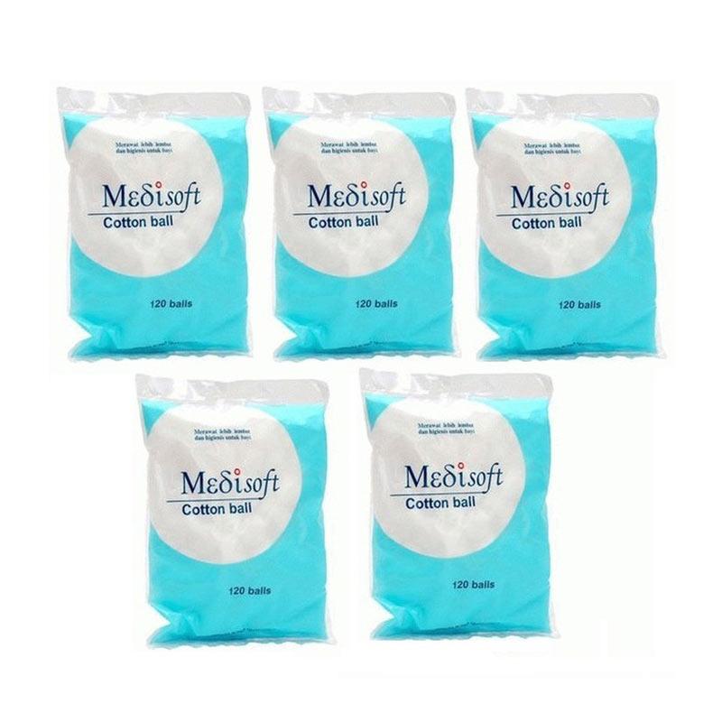 Medisoft Cotton Ball Kapas Bola [5 pack]