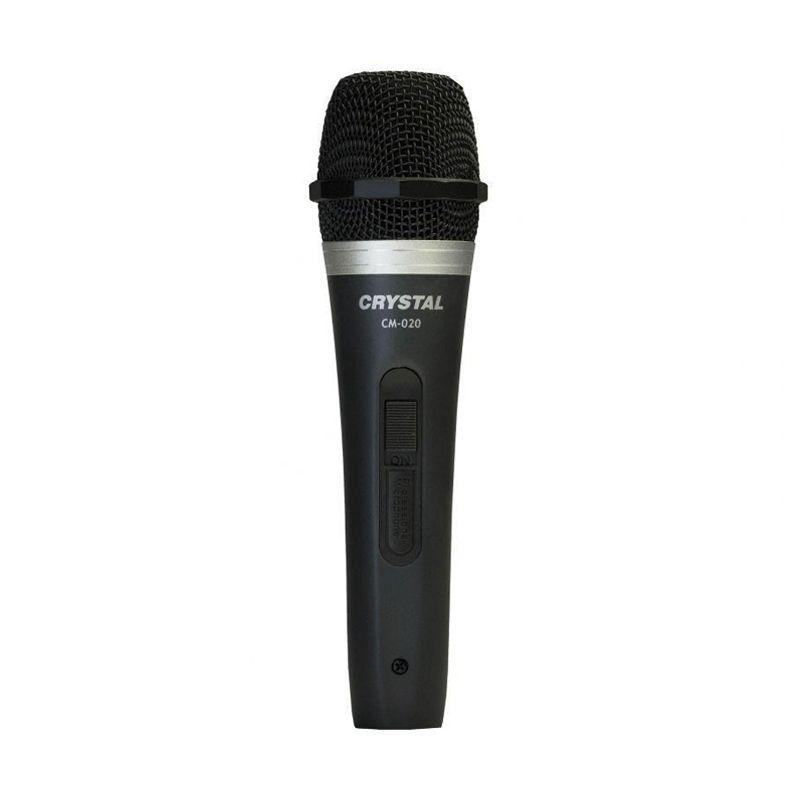 Crystal Microphone Kabel Karaoke CM-020 - Hitam Mic