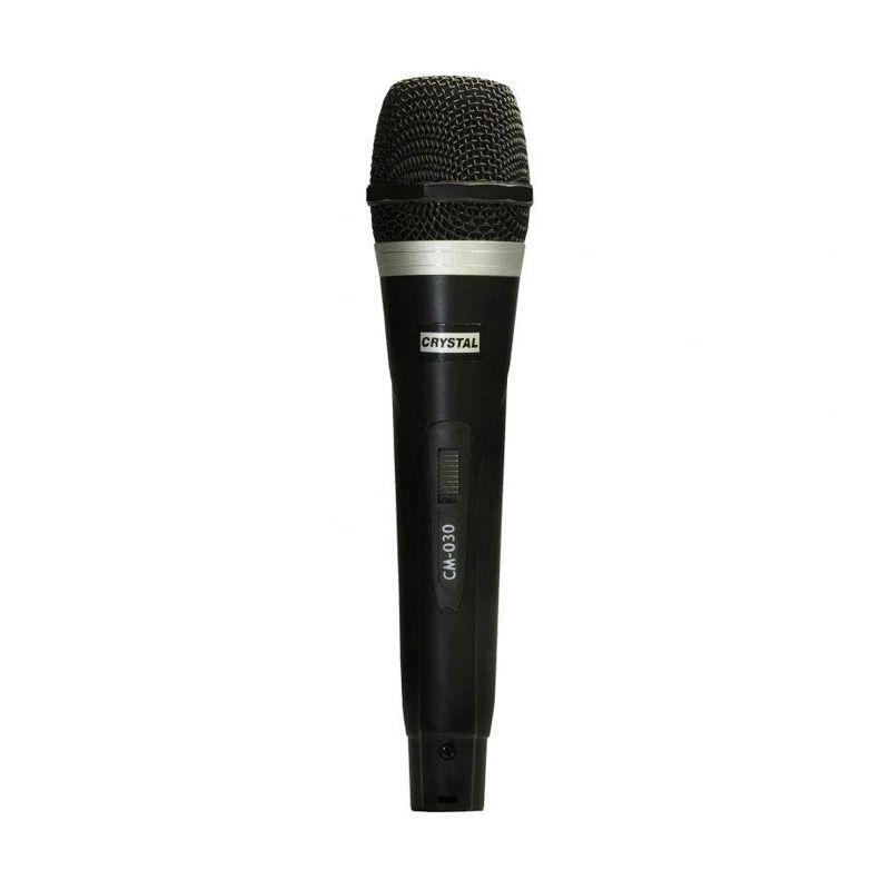 Crystal Microphone Kabel Karaoke CM-030 - Hitam