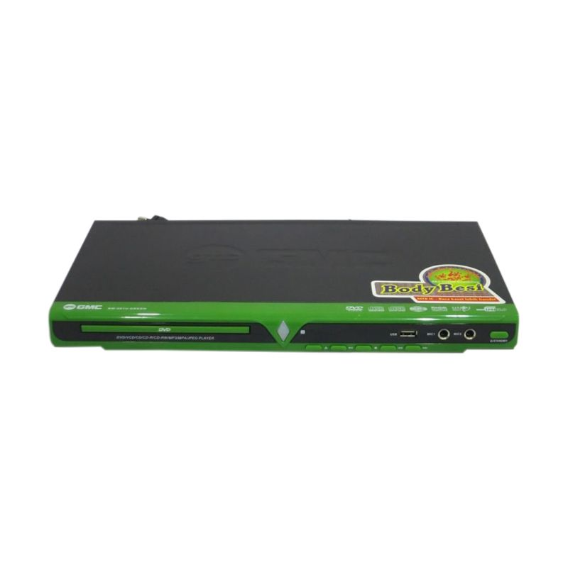 GMC 081P Hitam Hijau DVD Player