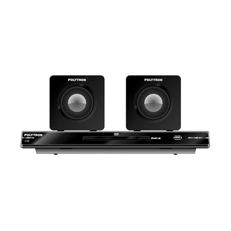 Polytron DTIB2367C Hitam Home Theatre Mini dan Speaker