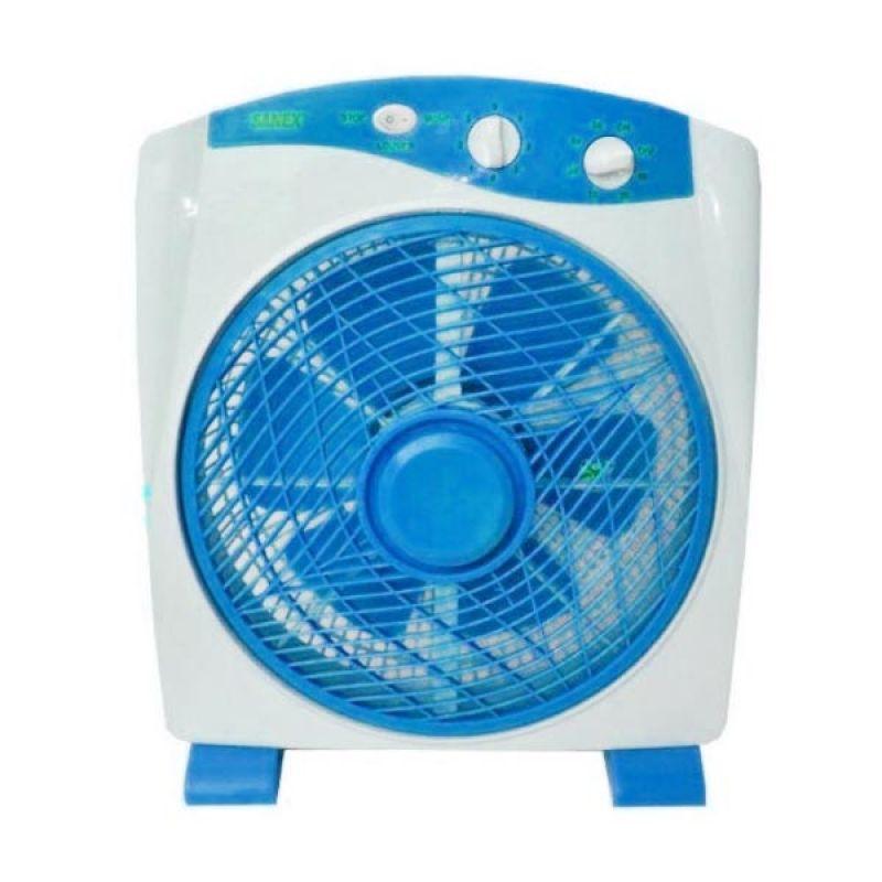 Sanex SB 818 Kipas Angin Meja Model Box Fan 12 Inch - Biru