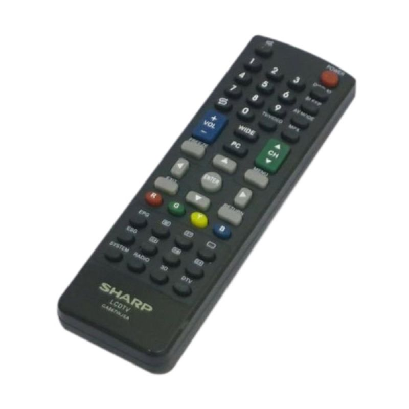 Sharp Remote [LCD/LED 3D] Hitam Aksesoris TV