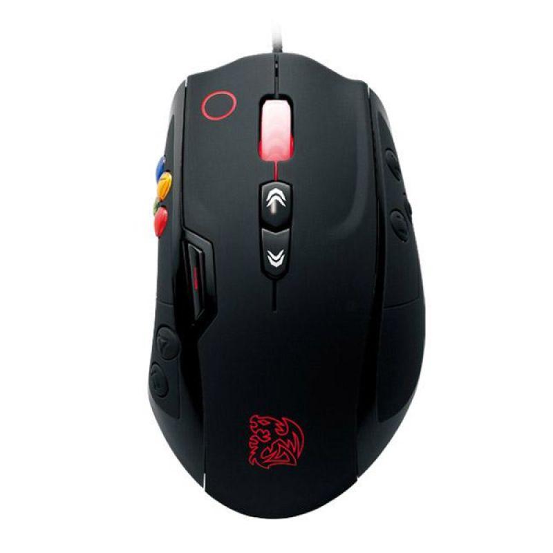 TT eSport Volos Hitam Gaming Mouse