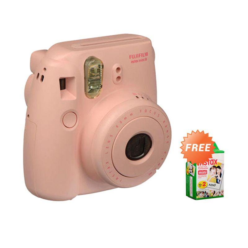 Fujifilm Instax Mini 8S Pink Kamera Instax (Free Paper)