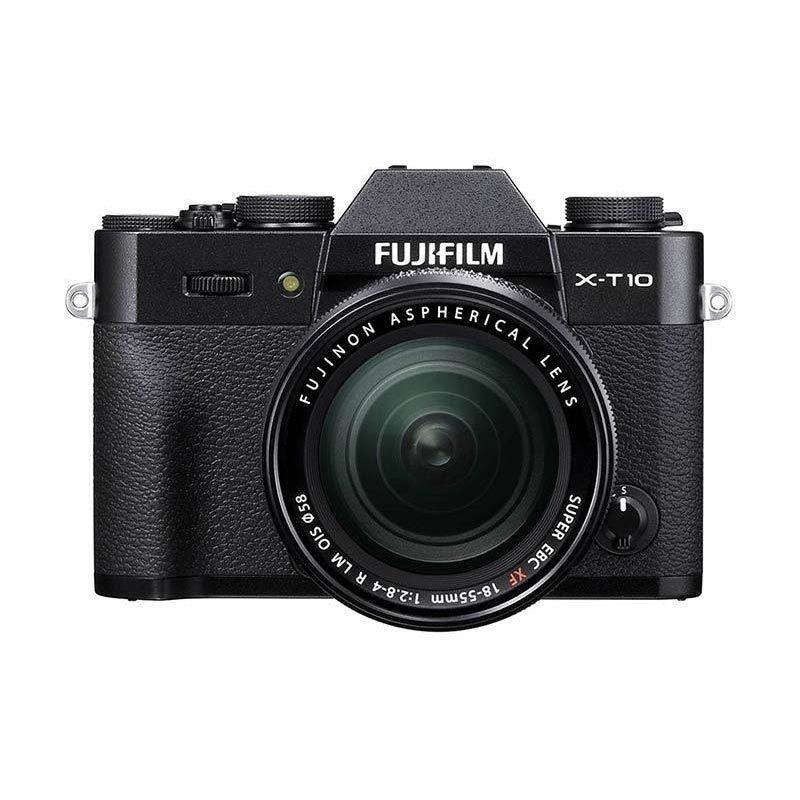 (PROMO Maret) Fujifilm X-T10 Black 18-55mm Kamera Mirrorless + Free Instax Mini 70