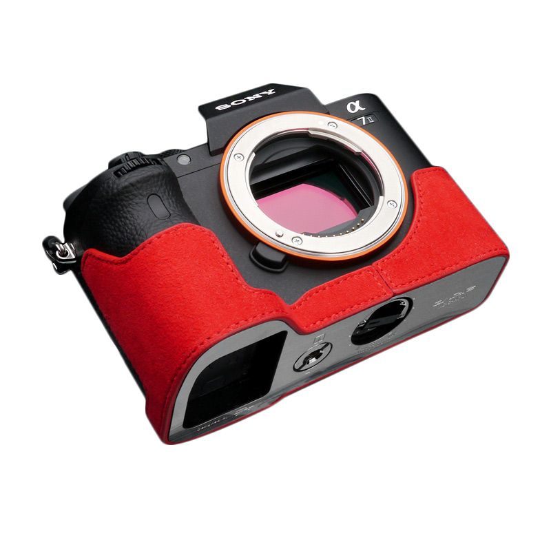 Gariz Halfcase AT-A7IIR Red for Sony A7II