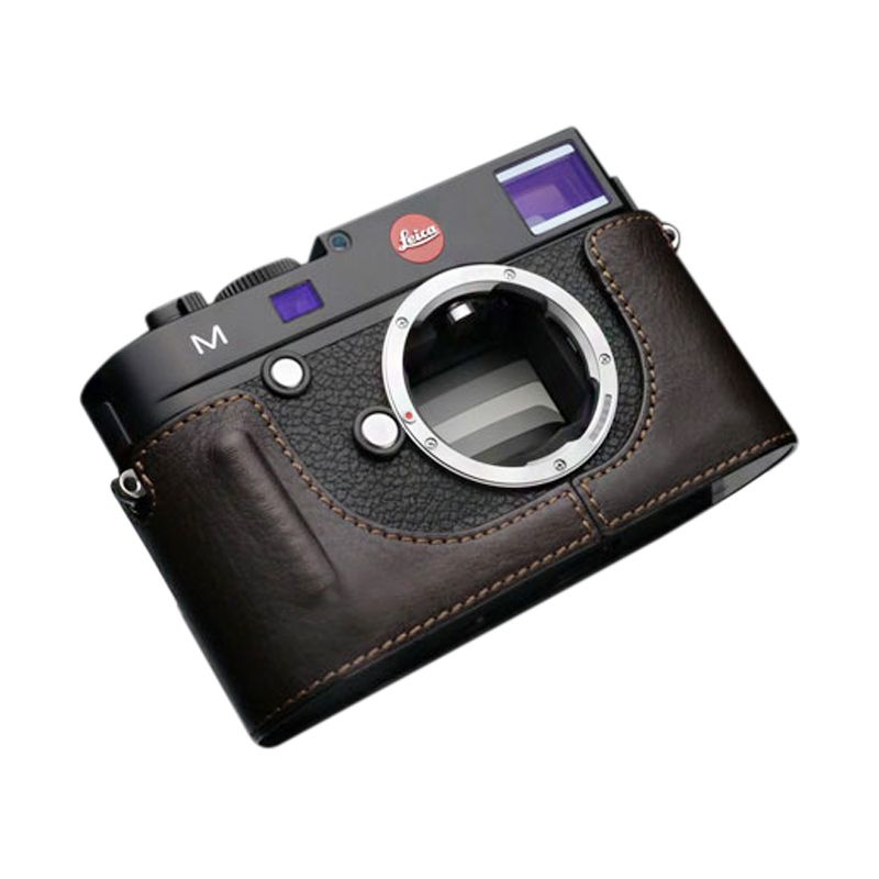Gariz BL-LCMBR Brown Half Cover Casing for Leica M