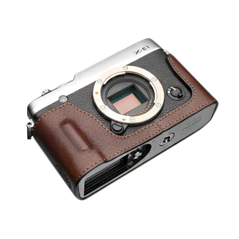 Gariz Halfcase HG-CHXE2 Brown for Fujifilm X-E1 dan X-E2