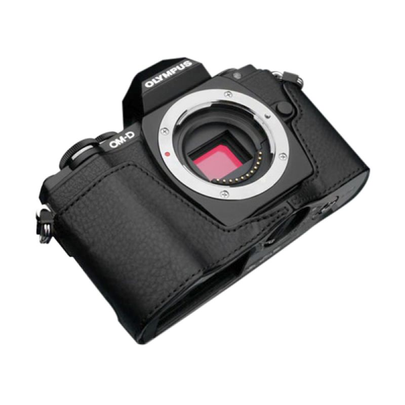 Gariz XS-CHEM10BK Black Half Cover Casing for Olympus E-M10