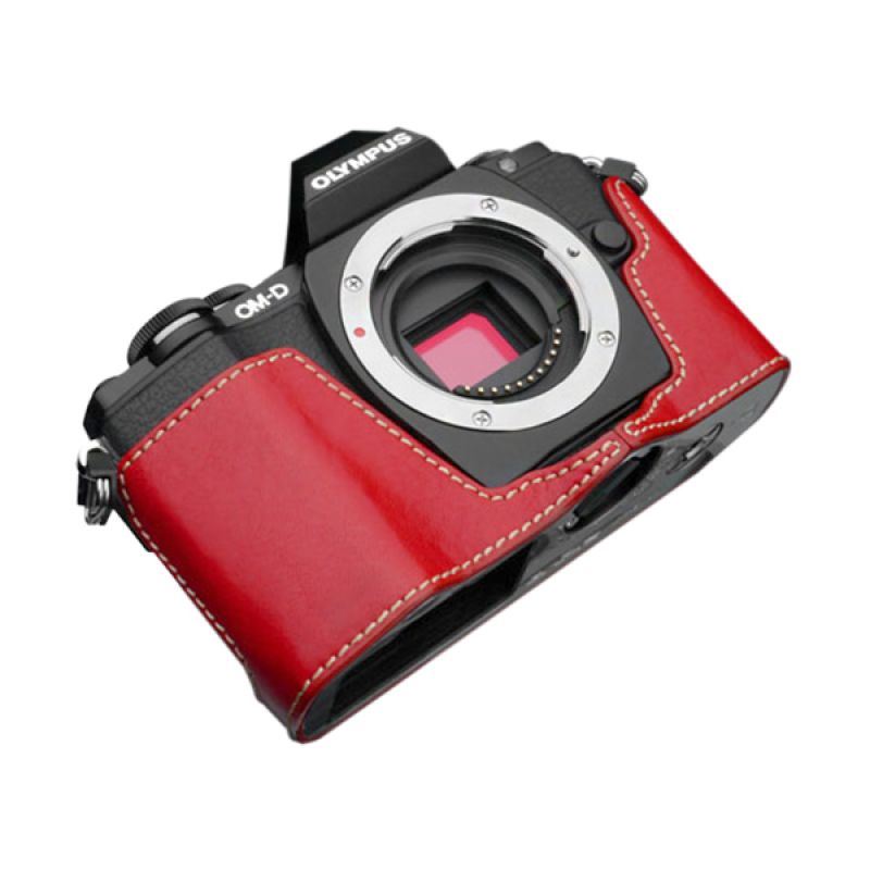 Gariz XS-CHEM10R Red Half Cover Casing for Olympus E-M10