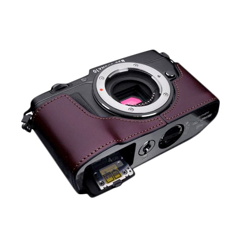 Gariz XS-CHEP5BR Brown Half Cover Casing for Olympus EP5
