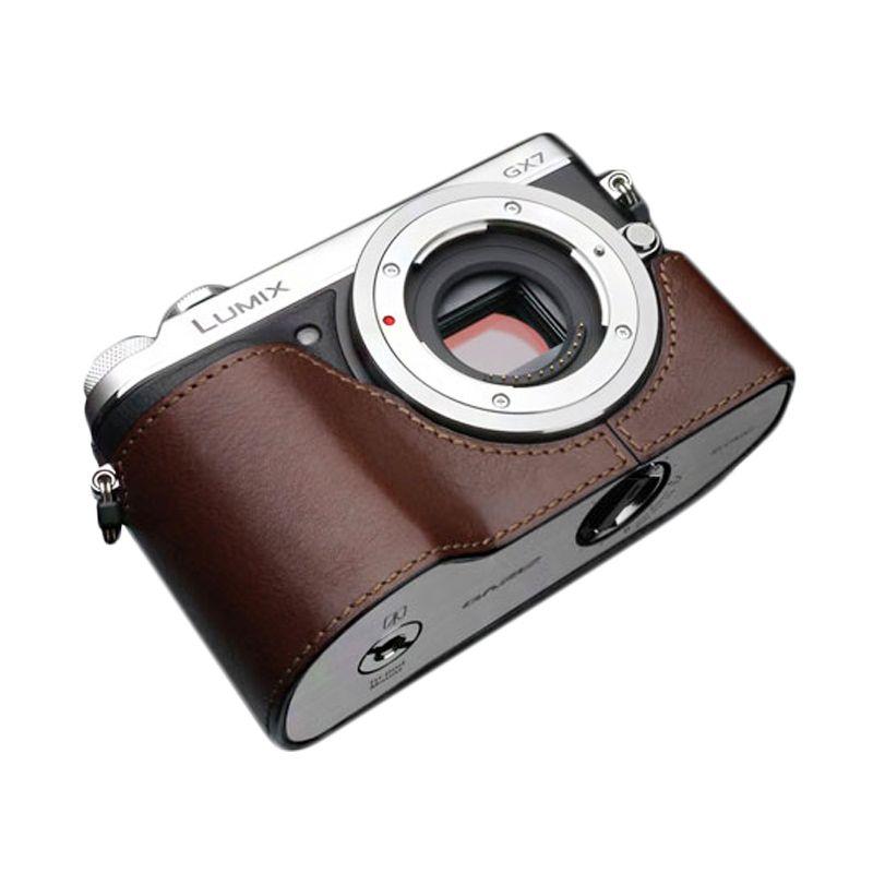 Gariz XS-CHGX7BR Brown Half Cover Casing for Panasonic GX7