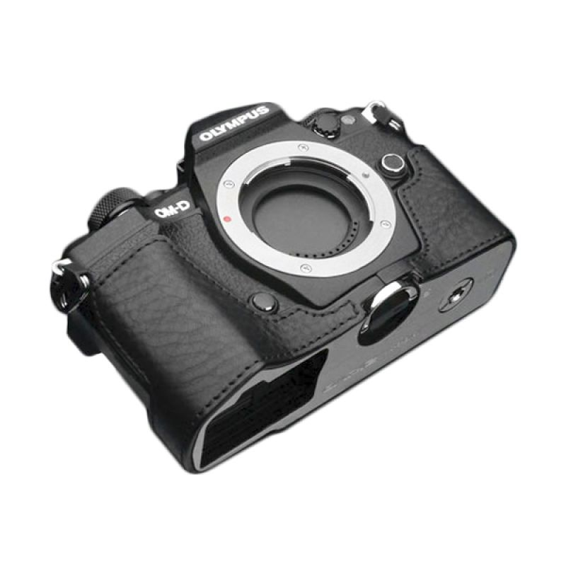 Gariz XS-EM5IIABK Black Half Cover Casing for Olympus E-M5II