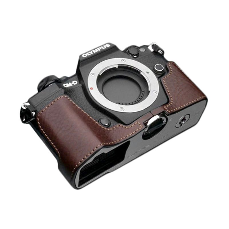 Gariz XS-EM5IIABR Brown Half Cover Casing for Olympus E-M5II