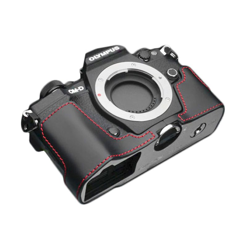 Gariz XS-EM5IIBKR Black Half Cover Casing for Olympus E-M5II