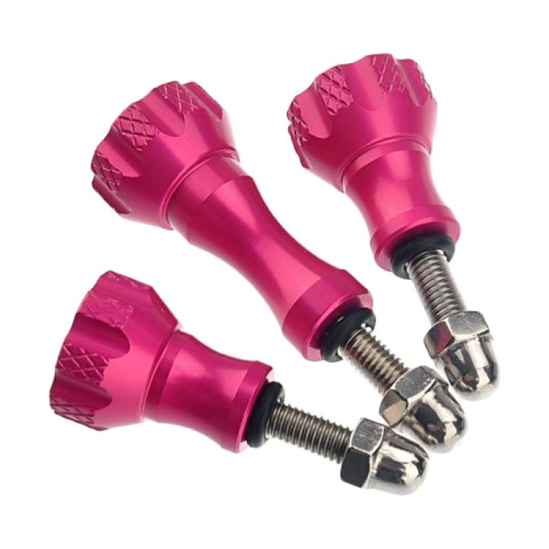 Third Party Aluminium Thumb Screw Set for GoPro (Pink)