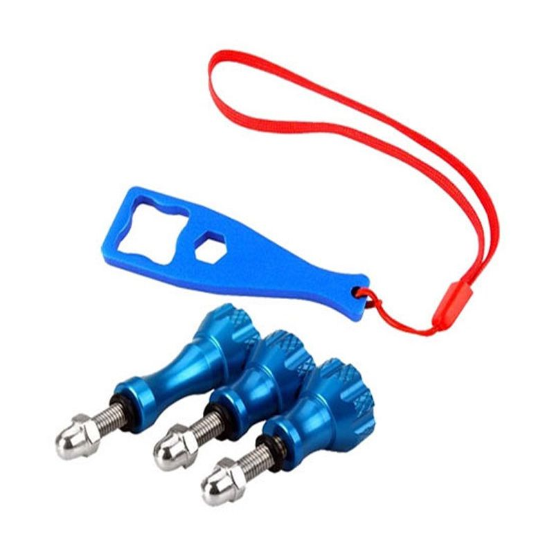 Third Party GoPro Aluminium Screw dan Wranch Biru Aksesoris Kamera
