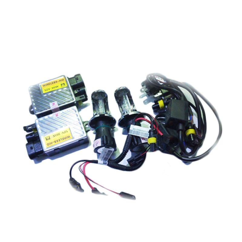 Auto One HID Wireless Lamp H4 6000 K Aksesoris Lampu Mobil