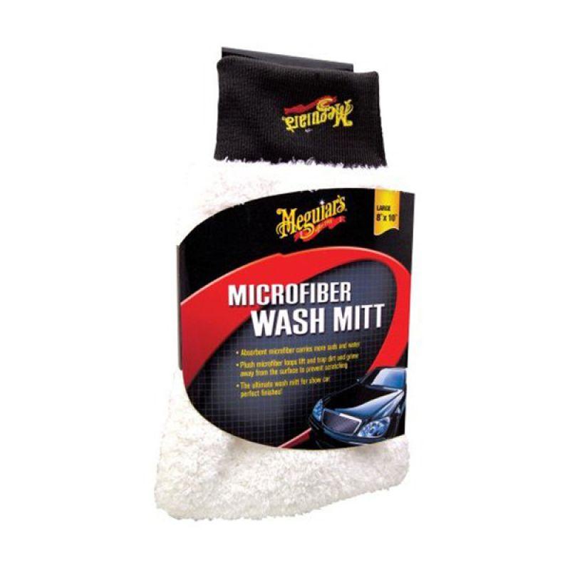 PROMO BUY 1 [ Meguiars Microfiber Wash Mitt] Kain Pembersih GET 1 FREE 3M Car Wash Soap Gold Series Pouch