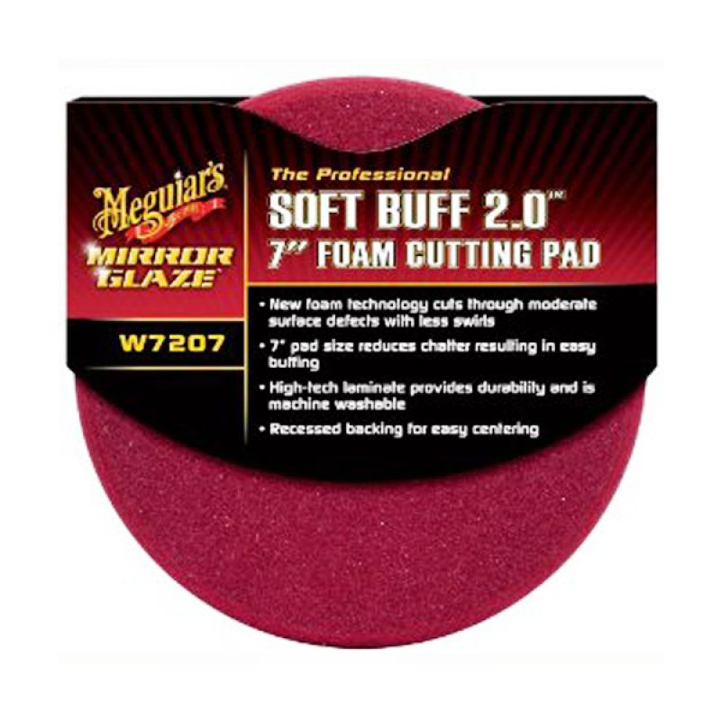 PROMO BUY 1 [ Meguiars Soft Buff 2.0 7 Inch Foam Cutting Pad Alat Pemoles Mobil] GET 1 FREE 3M Car Wash Shampoo Gold Series Pouch