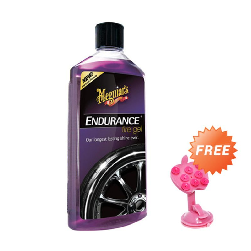 PROMO BUY 1 Meguiars Endurance High Gloss Tire Gel Pembersih & Pengkilap Ban [473 mL] GET 1 FREE Phone Holder