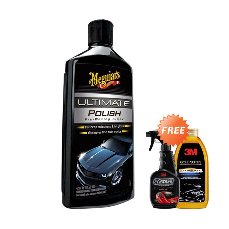 PROMO Meguiar's Ultimate Polish [Buy 1 Get 2 FREE 3M Car Wash Soap + 3M All Purpose Cleaner]