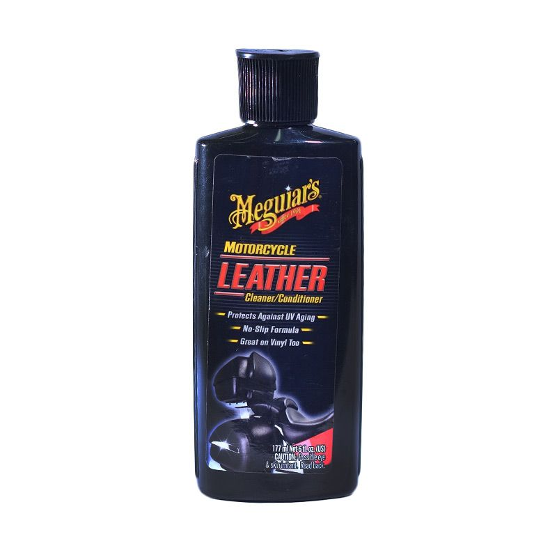 Meguiar's Motorcycle Leather Cleaner & Conditioner Cairan Pembersih [177 mL]