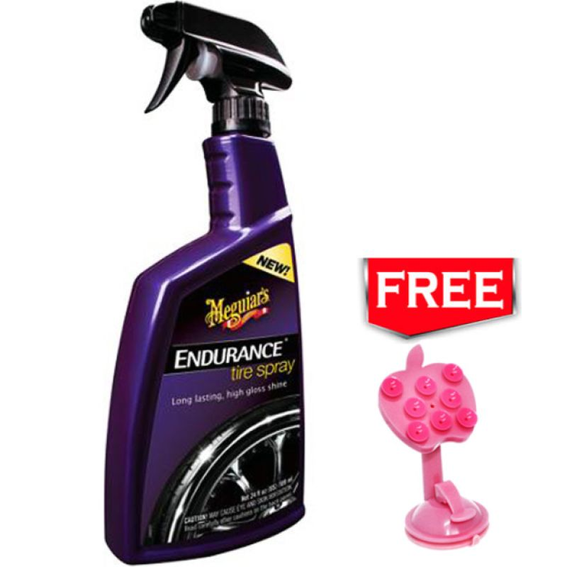 PROMO Meguiar's Endurance Tire Spray Cairan Pembersih Mobil [710 mL] GET FREE Phone Holder