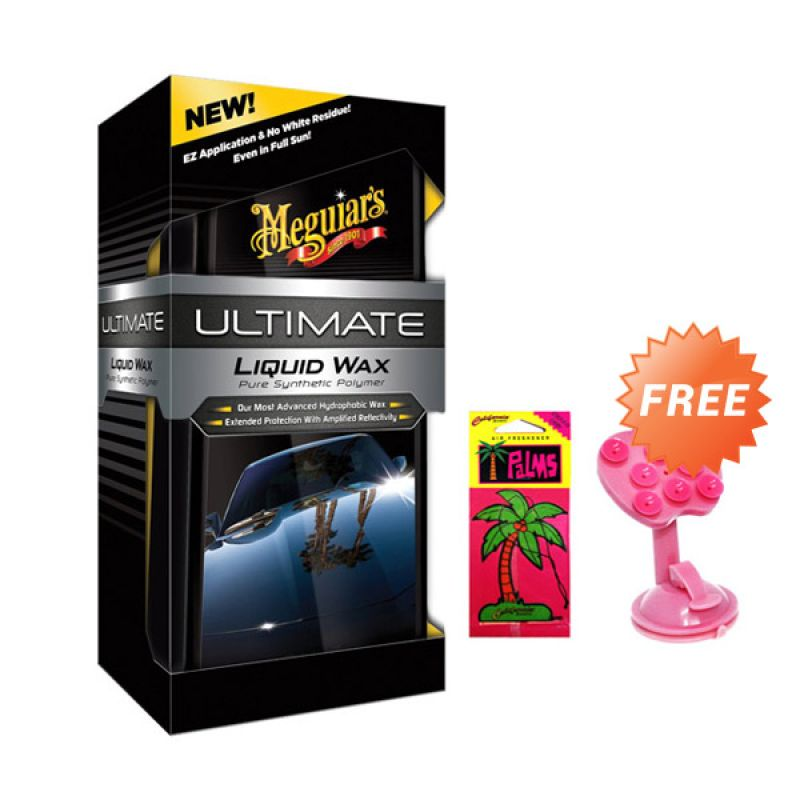 PROMO Meguiar's Ultimate Liquid Wax Pembersih Mobil [473 mL] GET FREE Phone Holder + California Paper Scents