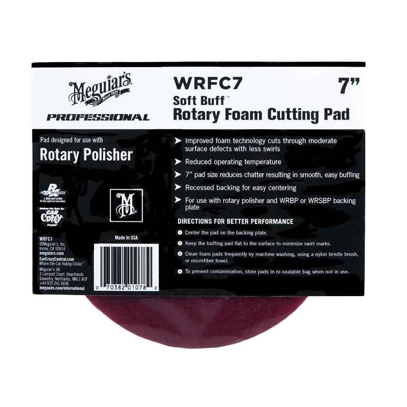 harga Meguiars Profesional Soft Buff Rotary Foam Cutting pad Alat Pemoles Mobil [7 Inch] WRFC7 Blibli.com